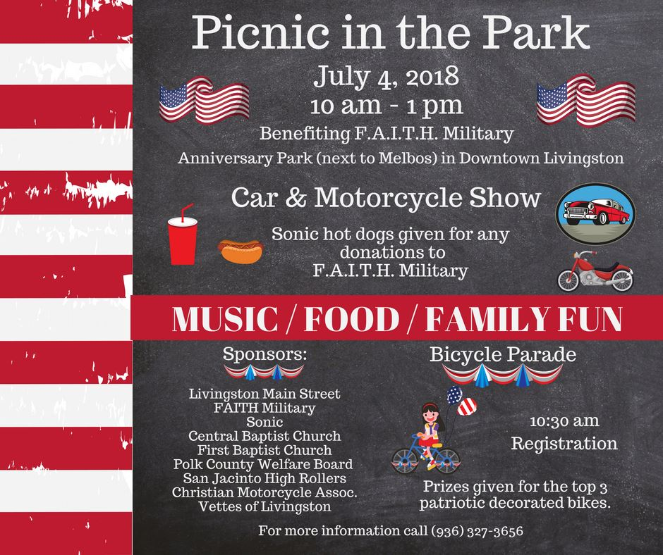 July 4th Picnic in the Park 2018
