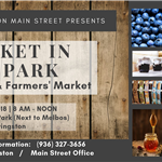 October 6, 2018 Market in the Park Event