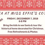 Santa at Miss Effies Cottage 12-7-18