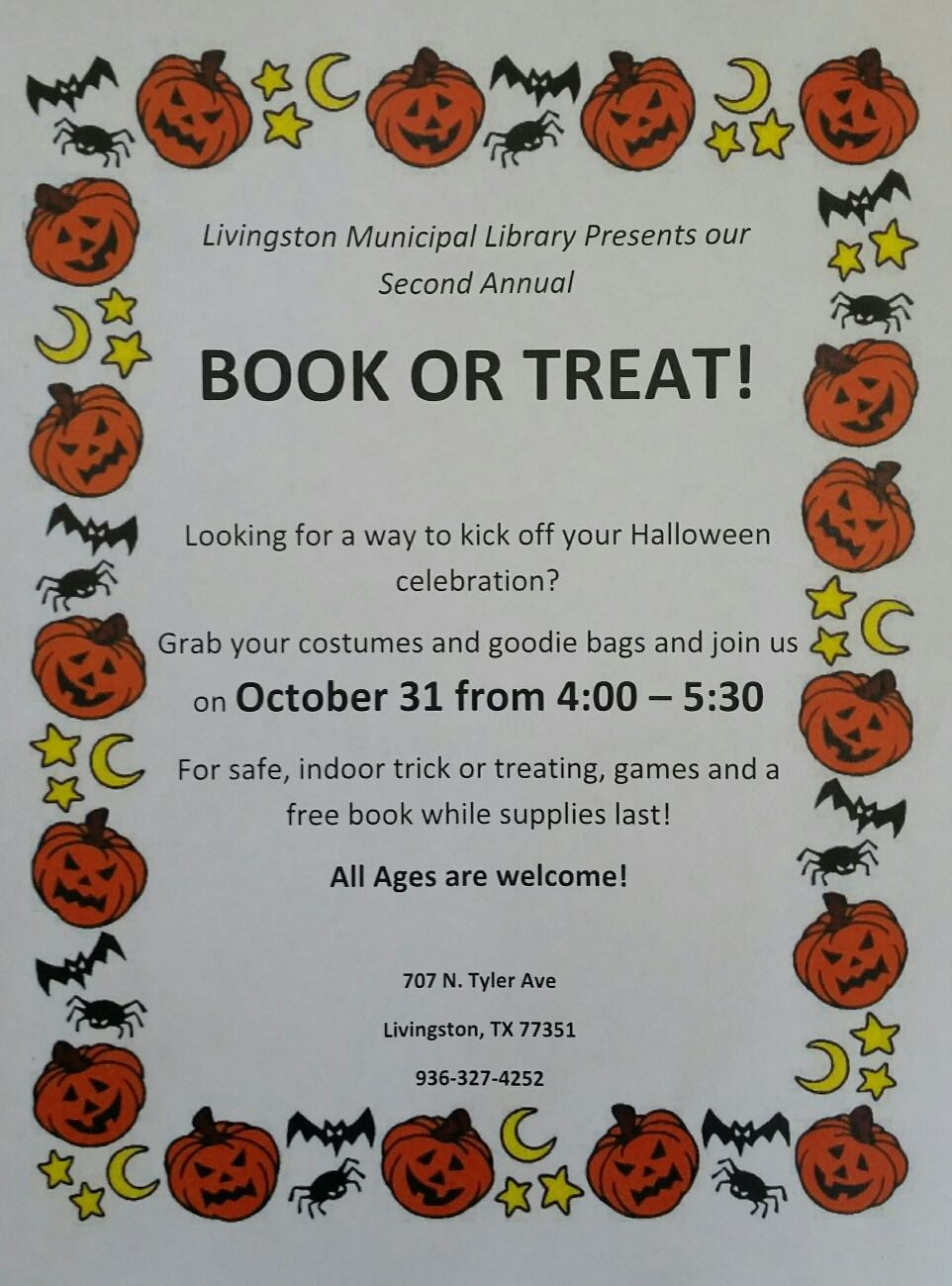 Book or Treat 2019