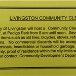 Livingston Community Cleanup 9-28-2019