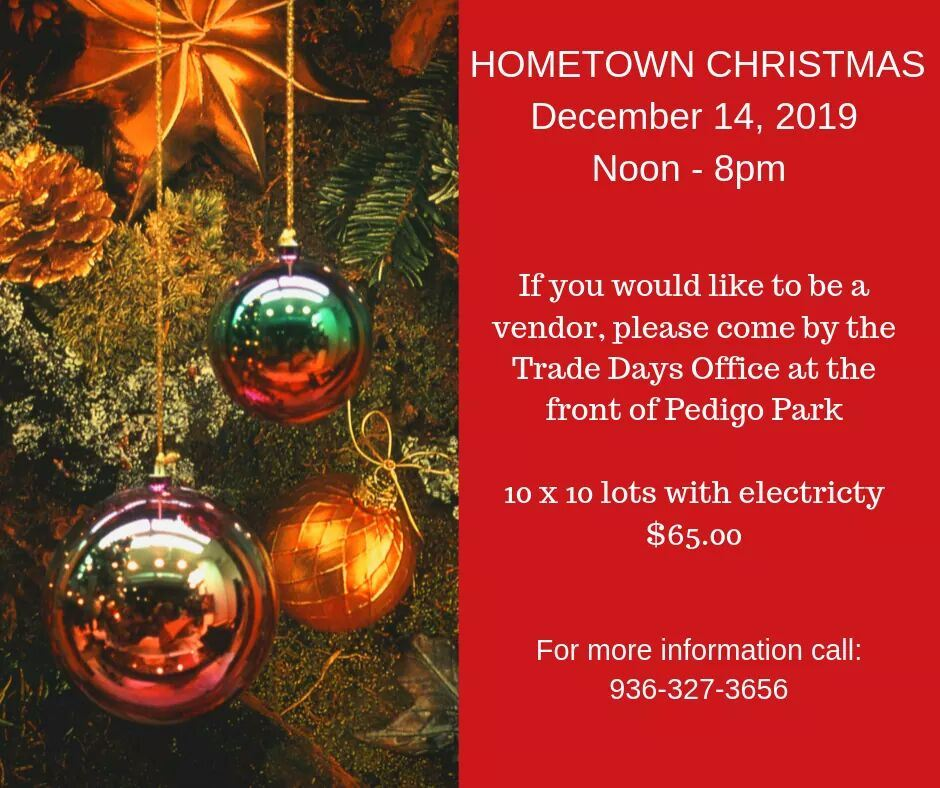 Hometown Christmas Vendors for December 14, 2019